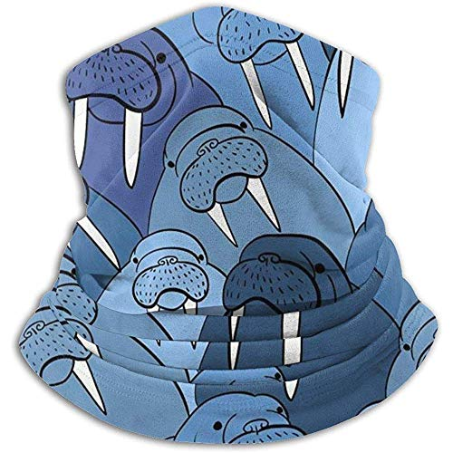 Linger In Winter-Nackenschutz, Wall of Walrus Outdoor-Kopfbedeckung aus Wolle, Schnee, Skimütze, Gesichtsmaske