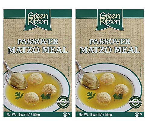 Green Ribbon Matzo Meal Kosher for Passover 16 oz 2 Pack Total 32 OZ