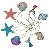 Goodma 8 Pieces Resin Pencil Finger Seashells with Rope for Christmas Tree Hanging Ornaments Beach Theme Wedding Home Decor & DIY Craft Project