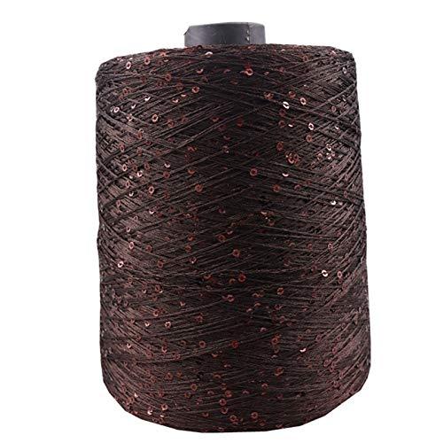 70 COLOR 700m 100 g / bola verano Hilo Mercerizado Mercerizado Hilo Especial Lentejuelas Hilado DIY Mano Mano Muñeca Muñeca Muñeco de tejido Lana Manta Chunky Knitting Wool Crochet ( Color : 42 )