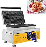 Hanchen 10pcs Commercial Waffle Maker NP-533 Electric Waffle Machine 110V No-Stick Belgian Waffle Baker (Cake Size: 80x54x12mm)