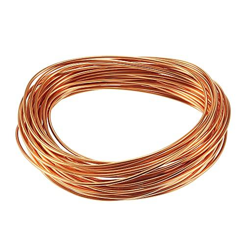 sourcing map 1.5mm diám. Cable de cobre esmaltado para devanado del imán de longitud 32,8