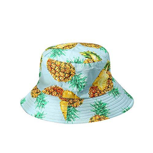 Wegji Patrón De Frutas con Estampado Tropical Sombrero De Pescador Sombrero De...