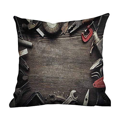 Matt Flowe Custom Fashion Home Decor Kissenbezug Industrial Decor Braun Grau Rot Kissenbezug Druck Reißverschluss Überwurf Kissenbezug 50,8 x 50,8 cm