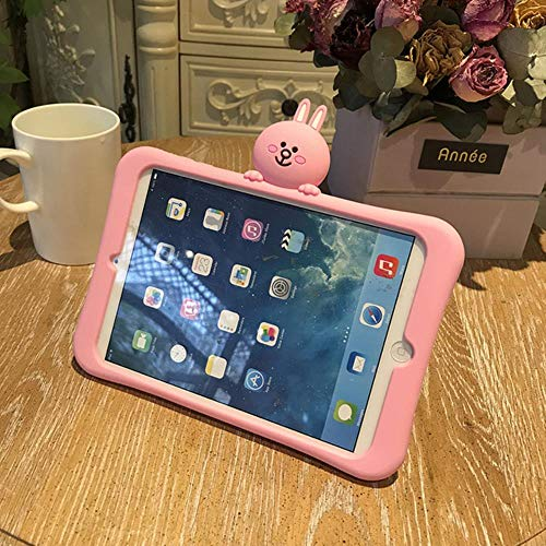 Tablet Stand Silicone Case For Tablets Ipad Mini1 2 3 4 5 Air 2 3 Pro 10.5 Cartoon Protective Cover For Ipad 2 3 4 18 9.7,For Ipad Mini 5