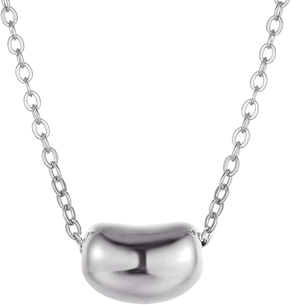 Jude Jewelers Stainless Steel Coffee Bean Charm Collar Statement Necklace