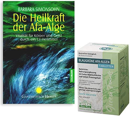 AFA Algen'Kennenlern-Set', Wilco Green Foods AFA Algen Bio 150 Tabl. plus Buch von Barbara Simonsohn'Die Heilkraft der AFA Alge' in einem Set. Ideal für Einsteiger in die Welt der Algen.