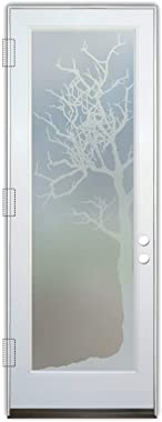Glass Front Entry Door Sans Soucie Art Glass Winter Tree Private