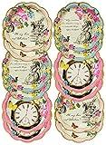Talking Tables TSALICE-PLATE Adorables Assiettes de fête Truly Alice, Lot de 12, Carton, Multicolore, 18x18x3 cm