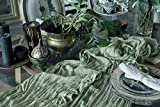 Table Runner 26x176 inches Cheesecloth Tablecloth for Wedding Rustic Boho Romantic Style Natural Gauze Decor Pastel Color (Green Garden Sage)