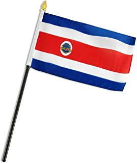 ALBATROS Costa Rica 4 inch x 6 inch Flag with Stick for Desk, Table for