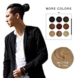 Fast Hair Bun for Men REECHO Hair Extensions Chignon Synthetic 3 inches in Diameter Size Small Color Medium Blonde