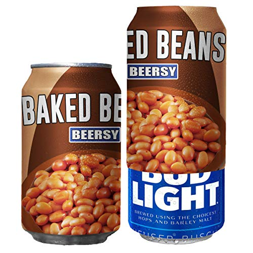 Beersy Can Cover Silicone Sleeve Hide a Beer to Look Like Soda, Fits 12 oz, Novelty Alcohol Disguise for Outdoor Events (Baked Beans)