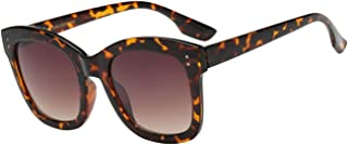 OWL Pouch Giselle Contemporary Thick Barrel Square Women's Plastic Sunglasses