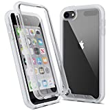 Imguardz Case for iPod Touch 7th/6th/5th Generation Case with Built-in Screen Protector, Heavy Duty Full Body Protection, Shockproof Hybrid Hard Shell Cover for iPod Touch 7/6/5(Latest Model), Clear