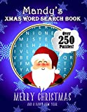 Mandy's Xmas Word Search Book: Over 250 Large Print Puzzles For Mandy / Wordsearch / Santa Bubble Theme