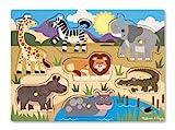 Melissa & Doug- Safari Puzzle in Legno, Multicolore, 19054