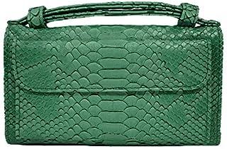 Shoulder Bag, Genuine Leather Snakeskin HandBag for Women Crossbody Bag Ladies Simple Modern Classic Design Totes with Chain