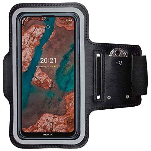 CoverKingz Brazalete deportivo para Nokia X10 / X20, con compartimento para llaves X10 / X20, color negro