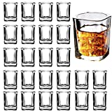 Shot Glass Set with Heavy Base, 2-Ounce Square Shot Glasses, 24 Pack Clear Shot Glass