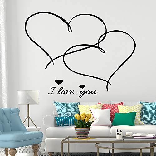 Sanzangtang Romantische muurstickers, PVC, afneembaar, 54 x 68 cm