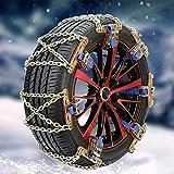 Riloer Cadena de Emergencia con Cable Antideslizante - Cinturón de Seguridad para Neumáticos Cadenas para Neumáticos de Nieve para Coches, Camiones, SUV, Antideslizantes, 1 Pieza