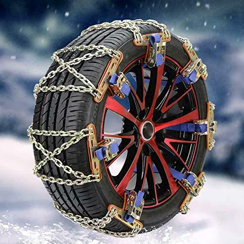 Riloer Anti-Rutsch-Kabel-Notfallkette - Auto-Sicherheits-Reifengürtel Schneereifen-Ketten für Auto-LKW-SUV Anti-Rutsch, 1PC