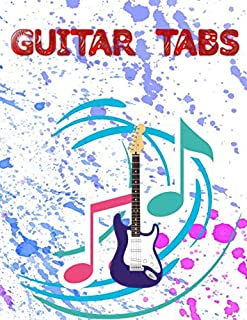 Ultimate Guitar Tab Treasure Chest: Easy Guitar Tabs 112 Pages Glossy Cover Design White Paper Sheet Size 8.5x11 Inches ~ Tablature - Play # Guitar Standard Print.