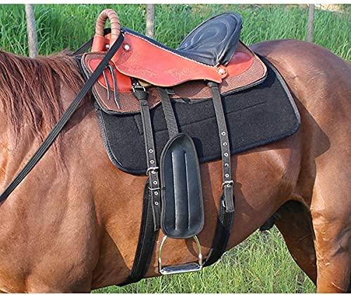HTDHS Conjunto de sillín de barril occidental de cuero premium, asientos de carreras de caballos transpirables con un estribo ecuestre y bridle de caballo para el gran arnés de equitación, marrón, a (