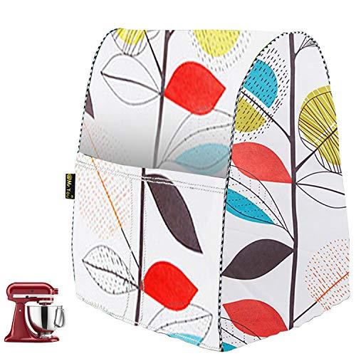 Housse de protection anti-poussière pour mélangeur de cuisine avec sac de rangement - Housse de protection pour presse-agrumes, cafetière, robot culinaire (36 x 28 x 40 cm, feuilles colorées)