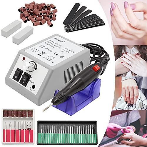 Rotemion Nagelfräser 12W elektrische Nagelfeile 20000 U/min Maniküre Pediküre Kit mit 6 Bohre Profi Maniküre Pediküreset für Acrylnägel Gelnägel Kallus Entfernen, Grau