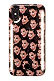 LuMee Duo Phone Case, Kimoji Cry Face, Black | Front & Back LED Lighting, Variable Dimmer | Shock Absorption, Bumper Case, Selfie Phone Case | iPhone X/iPhone Xs