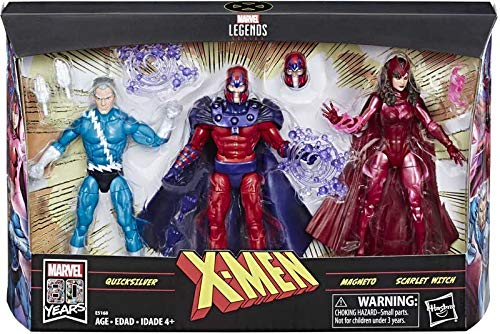 Legends Series - X-Men Family - 3 Action Figure Pack Including Accessories (Quicksilver, Magneto & Scarlet Witch), Approx 6' Each