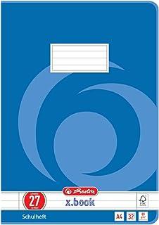 Herlitz 340273 – Cuaderno (A4, 32 hojas, línea 27, FSC Mix, 5 unidades)