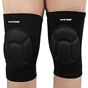 manga corta a la rodilla elástica alta belleza adulto Ninfa rodilla esponja, negro, 1 par