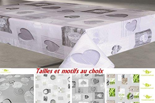 MadeInNature Protège-Table imprimé épais 2.2mm / Tailles et Motifs au Choix/Nappe pour Tables intérieures et extérieures (140x200 cm, 4 Tendresse)