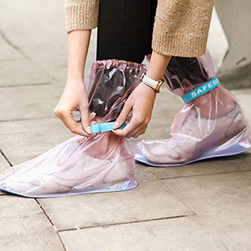 JIAAN Schuhüberzieher Fahrrad Regenschutz,Schuhüberzieher,100% wasserfest,perfekt zum Fahrradfahren und Gassi Gehen,saubere Schuhe,Regenüberschuhe Überzieher für Schuhe 2 Stück