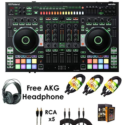 Why Choose Roland PKG DJ-808 Four-channel, Two-Deck Serato DJ Controller – Package Bundle with 3x ...