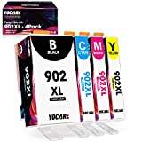 YOCARE Compatible Ink Cartridge Replacement for HP 902 XL  High-Yield 4 Combo Pack   Up-to-Date Chip Work with Officejet Pro 6978 6968 6962 6958 6975 Officejet 6900 Series Printer (Black/C/M/Y)