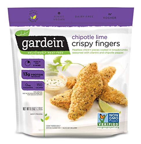 Gardein Chipotle Lime Plant-Based Chick'n Fingers, Vegan, Frozen, 9.5 oz.