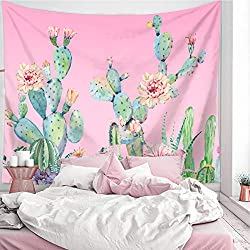 Pink Cactus Girly Tapestry