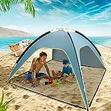 Allowevt Tienda de campaña de Pesca Anti-UV con Buena ventilación, sombrilla de Playa Transpirable, Refugio para Sombra al Aire Libre, Acampada, Viajes Deportivos Favorable