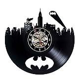 Reloj de pared, diseño de disco de vinilo con imagen de Batman