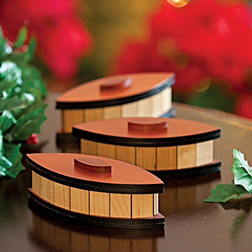 Bits and Pieces - Oval Trick Box - Wooden Trick Box - Wooden Brainteaser - Gift Box