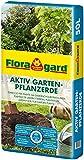 Floragard Aktiv Garten-Pflanzerde 50 Liter - Erde mit Langzeitdünger zum Pflanzen von Gehölzen, Sträuchern, Hecken und Stauden