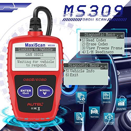 Autel MS309 Universal OBD2 Diagnósticos Coche Lector de Códigos ...