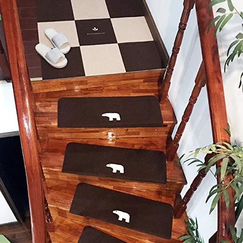 Trap Tread Pads Non Slip Lijm Tapijt Noctilucent Pads Set van Traptapijten Modern Abstract Tapijt Multi Stijl Gbal (Kleur : D3-S, Maat : 16 Stks)