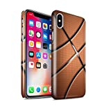 Stuff4® Glanz Snap-On Hülle/Hülle für Apple iPhone X/10 / Basketball Muster/Sport Bälle/Ball Kollektion