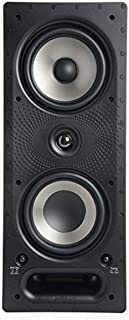 Polk Audio 265-RT 3-Way in-Wall Speaker with Port Power & Paintable GrilleEasily Fits in Ceiling or Wall High-Performance ...