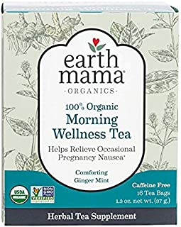 Earth Mama Angel Baby - Morning Wellness Tea, 16 tea bags